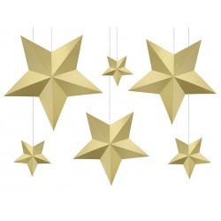 Dekoracja Gwiazdy, złote