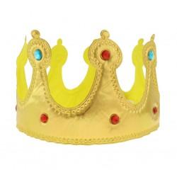 Korona Króla, miękka, zapinana na rzep, złota