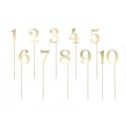 Numery na stół, złote