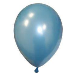 """balon gumowy  30cm/14"""" błękitny metaliczny"""