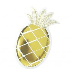 """Talerzyki papierowe """"Złoty Ananas"""""""