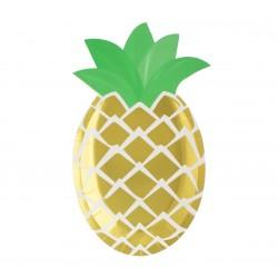 """Talerzyki papierowe """"Ananas - zielone listki"""""""