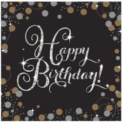 Serwetki urodzinowe z napisem Happy Birthday