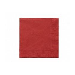 Serwetki papierowe czerwone, 33x33, 20 szt