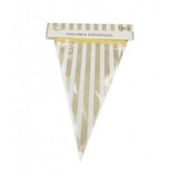 Girlanda papierowa, flagi w złote paski