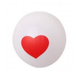 """Balon gumowy, 12"""" biały z serduszkiem"""