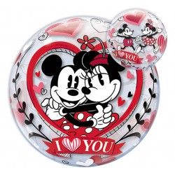 "Balon Bubble ""Mickey & Minnie I Love You"""