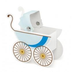 Pudełeczka Wózeczek, błękit 10szt