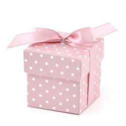 Pudełeczka dla gości z kokardką, różowe