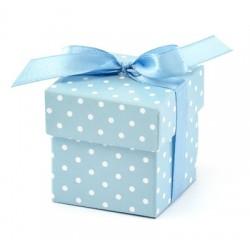 Pudełeczka dla gości z kokardką, niebieskie