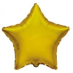 Balony foliowe gwiazdki, złote, 2 szt