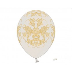 Balony 30cm, Ornament, Metallic Pure White