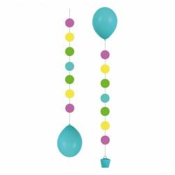 Dekoracyjna wstążka do balonów wraz z obciążnikiem, kółka