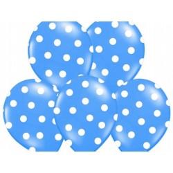 """Balon 14"""" Pastel Mid Blue """"Kropki"""", 1 szt."""