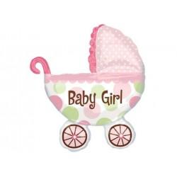Balon foliowy wózeczek Baby Girl