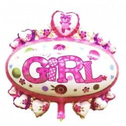 Balon foliowy Baby Girl, owal