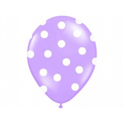 "Balon 14"" Pastel Lavender ""Kropki"", 1szt."