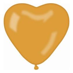 Balon gumowy 10'' serce, złoty