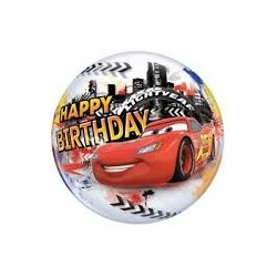 Balon  Bubbles Cars Happy Birthday 22''