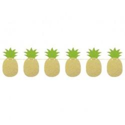 Girlanda brokatowa Złote Ananasy