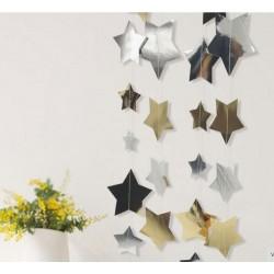 Dekoracja wisząca złote i srebrne gwiazdki