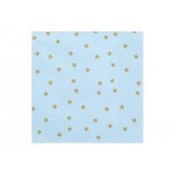 Serwetki Gwiazdki niebieskie
