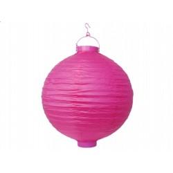 Ogrodowy lampion papierowy 30 cm, różowy, 1 szt.