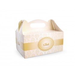 Ozdobne pudełka na ciasto weselne, 1szt.