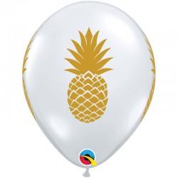 "Balon gumowy 12"" Clear Ananas"