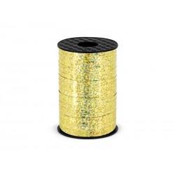 Wstążka plastikowa złota, holograficzna