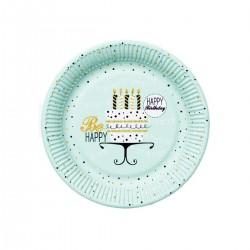 Talerzyki miętowe Happy Birthday, 18cm
