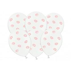 Balony 30cm, Usta, j. różowy