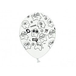 Balony 30cm, Potworki, Pastel Pure White