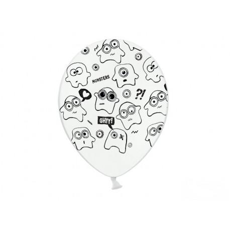 Balony 30cm, Potworki, Pastel Pure White