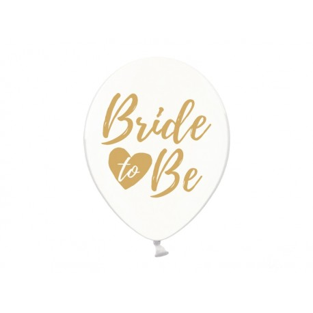 Balon 30cm, Bride to be, Crystal Clear