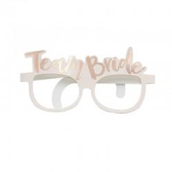 Okulary różowe, ROSE GOLD Team Bride, 8szt