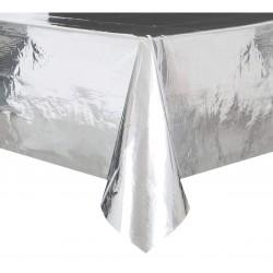 Obrus foliowy, srebrny metaliczny