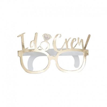 Okulary I do Crew, biało złote
