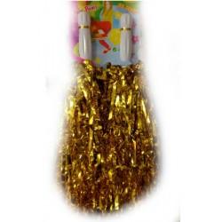 Pompony cheerleaderki, złote
