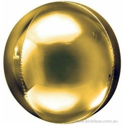 Balon foliowy kula złota, 40cm