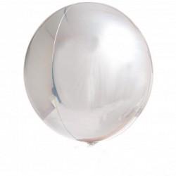 Balon foliowy kula srebrny, 40cm