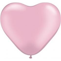 Balon w kształcie serca, różowy