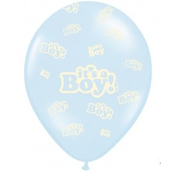 Balony 30cm, It's a Boy, Pastel Baby Blue