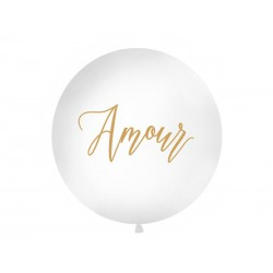 Balon 1 m, Amour, biały
