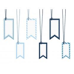 Zawieszki dekoracyjne, 4,3 x 9cm, 3,5 x 7cm (1 op. / 6 szt.)