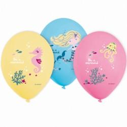 "Balony gumowe, Syrenka, 11"" 6 szt."