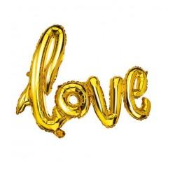 BALON FOLIOWY LOVE ZLOTY 65.5*108