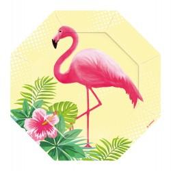 "6 talerzy z kształtem ""Flamingo Paradise"" 18cm"