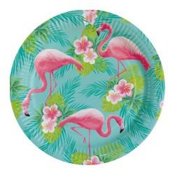 8 talerzy Flamingo Paradise 23cm