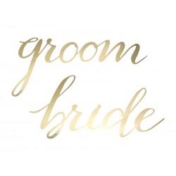 Zawieszki Bride Groom, złoty (1 op. / 2 szt.)